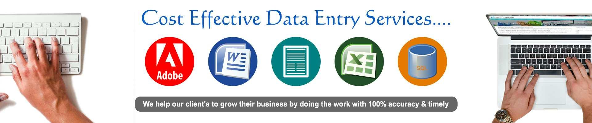 Cost Effective Data Entry Services